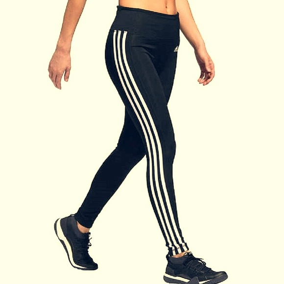 744a335270c adidas Pants | Womens 3 Stripe Active Tights Leggings | Poshmark